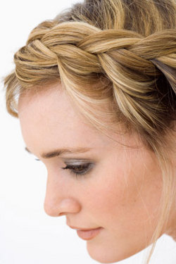 French Braid Hairstyle - Blonde, Styles, Female, Adult hair, Straight hair, French braids hairstyle picture