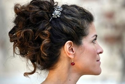 Romantic Updo - Brunette, Mature hair, Updos, Long hair styles, Styles, Special occasion, Female, 2c hairstyle picture