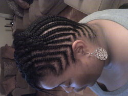 Cornrow design - Short hair styles, Kinky hair, Readers, Female, Makeovers, Black hair, Adult hair, Cornrows hairstyle picture