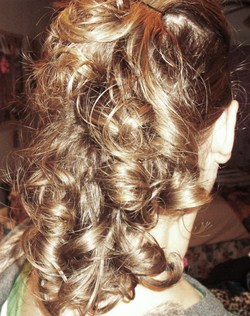 Back of my curlhawk - Brunette, Blonde, Updos, Long hair styles, Readers, Styles, Female, Curly hair, Teen hair, Mohawk, Punk hair hairstyle picture