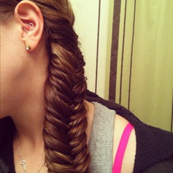 First attempt at a fishtail braid -  hairstyle picture