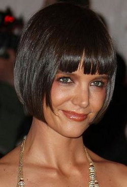 Katie Holmes - Brunette, Short hair styles, Styles, Female, Adult hair, Straight hair, Bob hairstyles hairstyle picture