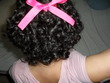 my sort black hair - spiral curls