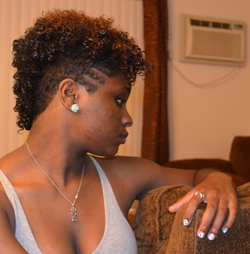 Half Mohawk - 3b, 3c, Medium hair styles, Readers, Female, Curly hair, Black hair, Adult hair, Mohawk hairstyle picture