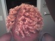 ms richards 45 blonde coily updo - Coil out