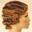 old-fashioned finger waves - Redhead