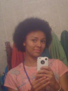 My First Afro&#40;: Yay haha xD  - Redhead, Brunette, 4b, Short hair styles, Medium hair styles, Kinky hair, Afro, Readers, Female, Teen hair, Makeovers hairstyle picture