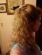 back of curls -