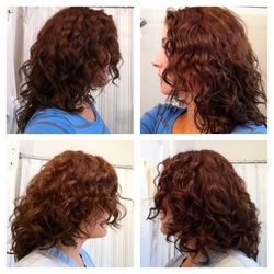 2c/3a hair before and after 1st Devacut! -  hairstyle picture