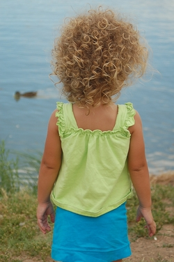 Michaela's just-done curls.. - Blonde, 3b, Medium hair styles, Kids hair, Readers, Female, Curly hair, Natural Hair Celebration hairstyle picture