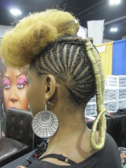 rare3.jpg - Blonde, 4b, Medium hair styles, Updos, Kinky hair, Braids, Styles, Formal hairstyles, Natural Hair Celebration, Textured Tales from the Street hairstyle picture