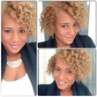 blonde braid out - Kinky hair, 4a, 4b