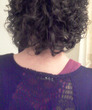 short curly - black hair