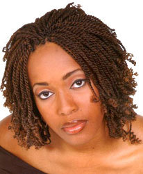 Kinky Twists - Brunette, Medium hair styles, Kinky hair, Twist hairstyles, Styles, Adult hair, Kinky twists hairstyle picture