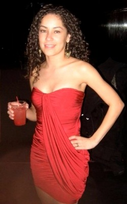 My Birthday Party - Jan 2009 - Brunette, 3b, 3a, Long hair styles, Readers, Special occasion, Female, Curly hair, Holiday Party Curls, Adult hair, Formal hairstyles hairstyle picture