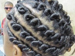 IMG_6900.JPG - Medium hair styles, Updos, Kinky hair, Styles, Female, Black hair, Formal hairstyles, Knots, Curly kinky hair, Natural Hair Celebration, Textured Tales from the Street hairstyle picture