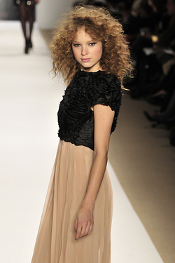 Tibi Fall 2010 - Courtesy of Runway Weekly - Brunette, Blonde, 3b, 3a, Medium hair styles, Styles, Female, Curly hair, Adult hair, Prom hairstyles hairstyle picture