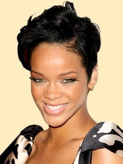 Rihanna - Celebrities, Short hair styles, Female, Black hair hairstyle picture