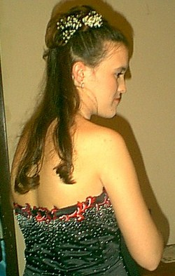 Senior Prom Partial Updo with Baby's Breath - Readers, Hair Accessories hairstyle picture