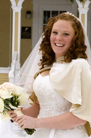 Wedding day style - Redhead, 3b, 3a, Medium hair styles, Wedding hairstyles, Styles, Female, Adult hair hairstyle picture