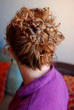 finished back view - Curly hair, 3a, 3b
