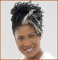 Sister Locs Pinup - Mature hair, Medium hair styles, Kinky hair, Long hair styles, Styles, Female, Gray hair, Black hair hairstyle picture