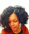 bantu knot out - Curly kinky hair, 3c