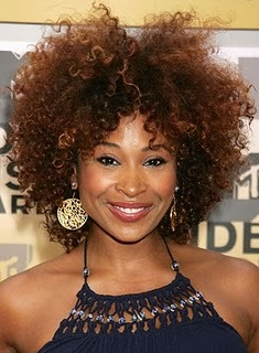 Tanika Ray - 3c, Celebrities, Afro, Styles, Female, Adult hair, Curly kinky hair hairstyle picture