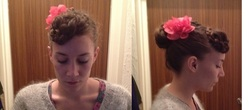 Braided bangs and a bun - Brunette, Brunette, 3b, 3b, 3a, 3a, 4a, 4a, 4b, 4b, Wavy hair, Wavy hair, Medium hair styles, Medium hair styles, Updos, Updos, Kinky hair, Kinky hair, Long hair styles, Long hair styles, Braids, Braids, Female, Curly hair, Curly hair, 2c, 2c, Adult hair, Adult hair, Straight hair, Straight hair, Buns, Buns, Curly kinky hair, Curly kinky hair, 4c, 4c hairstyle picture