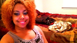 Wild & Proud - Redhead, 3c, Short hair styles, Medium hair styles, Kinky hair, Afro, Female, Curly hair, Teen hair, Adult hair, Curly kinky hair hairstyle picture