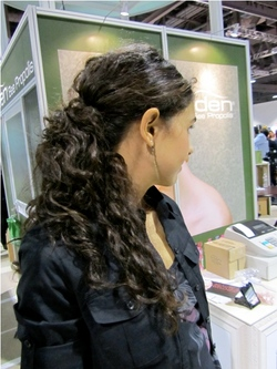 International Salon and Spa Expo 2011 - Brunette, Wavy hair, Long hair styles, Female, Curly hair, Black hair, Adult hair, Ponytail, Textured Tales from the Street hairstyle picture