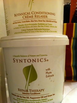 SYNTONICS  BOTANICAL HAIR  RELAXER  - Black hair hairstyle picture