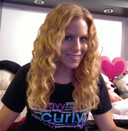 proud curly girl - Blonde, 3a, Wavy hair, Long hair styles, Readers, Female, Curly hair, 2c, Adult hair, Natural Hair Celebration hairstyle picture