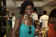 transitioning attendant at the curly pool party - Kinky hair