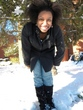 curly in a winter wonderland -