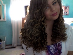 Going Out For A Party! - Blonde, 3c, Medium hair styles, Readers, Female, Curly hair, Teen hair, Spiral curls, Natural Hair Celebration hairstyle picture