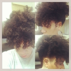 my fabulous puff with a bang - Brunette, Short hair styles, Readers, Female, Adult hair, Afro puff hairstyle picture