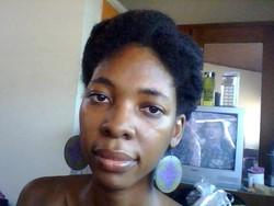 My 'Twisted meets Pinned' Puffs -  hairstyle picture