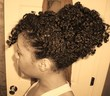 twist out bun - Curly kinky hair