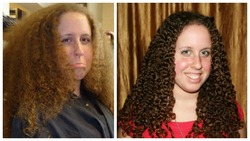 Braid-out - Brunette, 3c, Medium hair styles, Readers, Female, Makeovers, Adult hair, Braid out hairstyle picture