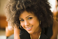 Just Lovely - Brunette, 4a, Medium hair styles, Kinky hair, Styles, Female hairstyle picture