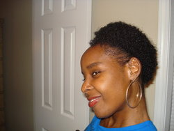 My Kinky Curly Custard Application Pic - Brunette, Short hair styles, Medium hair styles, Kinky hair, Readers, Styles, Female, Black hair, Adult hair, Afro puff hairstyle picture