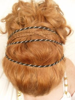 greek style - Redhead, Updos, Long hair styles, Readers, Female, Curly hair hairstyle picture