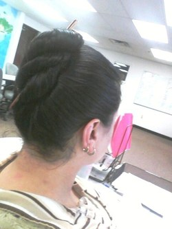 Helix Bun - Brunette, 3a, Updos, Long hair styles, Wedding hairstyles, Readers, Female, Adult hair, Prom hairstyles, Formal hairstyles, Homecoming hairstyles hairstyle picture