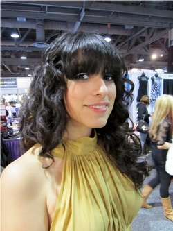 International Salon and Spa Expo 2011 - Brunette, Wavy hair, Long hair styles, Female, Curly hair, Black hair, Adult hair, Textured Tales from the Street hairstyle picture
