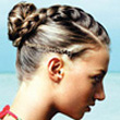 Curly Hair Style: French braids