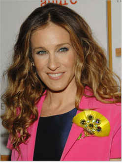 Sarah Jessica Parker - Brunette, Celebrities, Long hair styles, Female, Curly hair, Layered hairstyles hairstyle picture