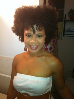 Twist out - 4a, Medium hair styles, Kinky hair, Readers, Female, Curly hair, Black hair, Adult hair, Twist out hairstyle picture