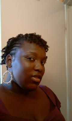 braid/twist - Brunette, 4b, Short hair styles, Kinky hair, Readers, Female, Black hair, Adult hair, Kinky twists hairstyle picture