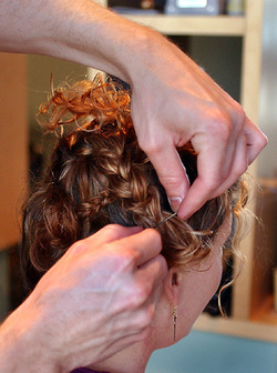 Pinning Braids Back - Updos hairstyle picture
